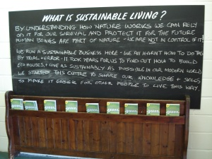 Chalking up the eco message at Bricks and Bread